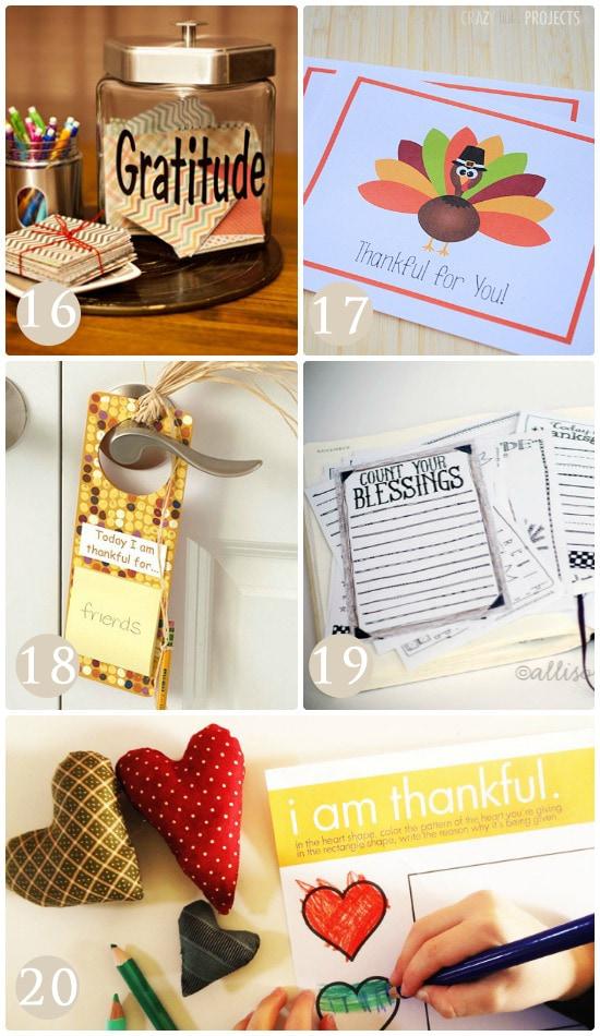 New ideas to teach your children about gratitude.