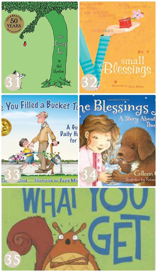 Books to teach kids gratitude.