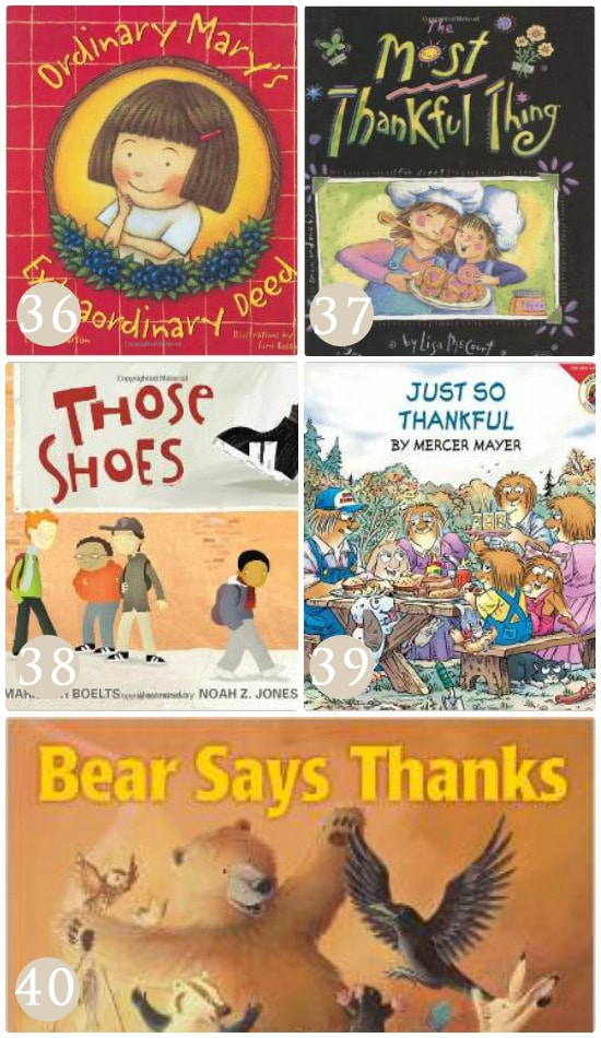 Books about gratitude.