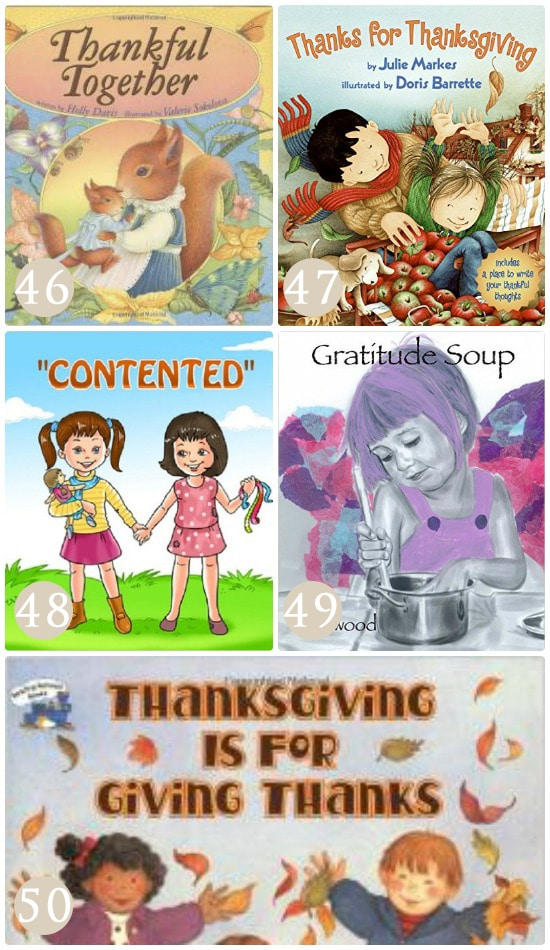 Use books to discuss the topic of gratitude with your children.