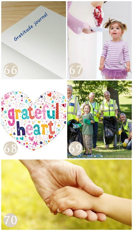 Ways to raise grateful children.