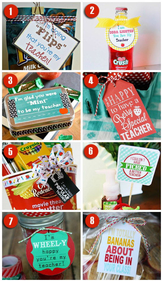 Classroom Keepsake Ideas ~ Easy creative teacher gift ideas