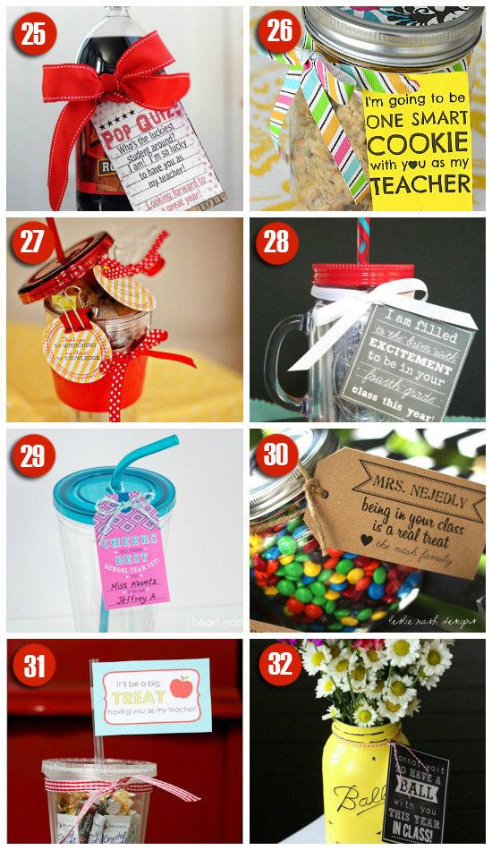 101 easy creative teacher gift ideas teacher gifts for the first day of school negle Image collections