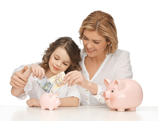 Teaching children by example about finances.