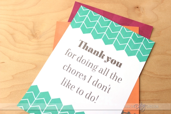 Thank you for doing the chores!