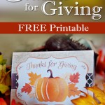 Thanks For Giving Printable