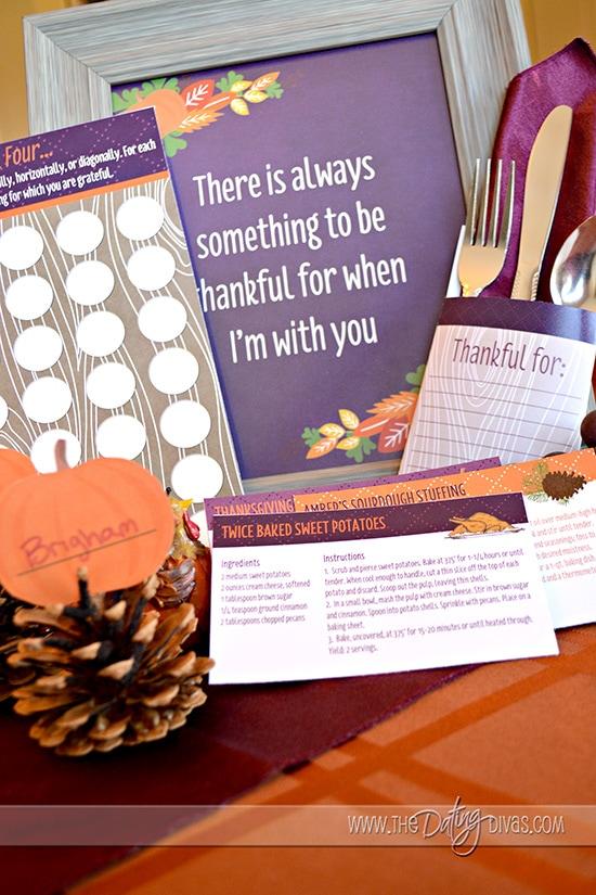 Thanksgiving Dinner Place Settings