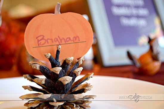 Thanksgiving Meal Place Card