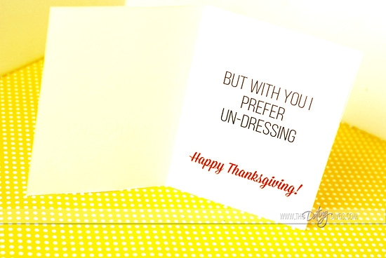 Sexy Thanksgiving Card For Your Spouse