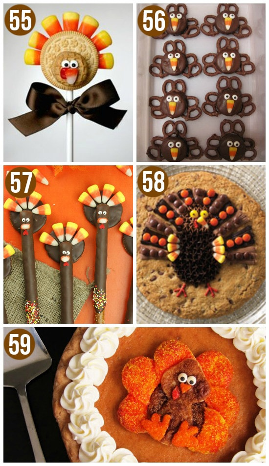 Thanksgiving Desserts Inspired by Cute Turkeys
