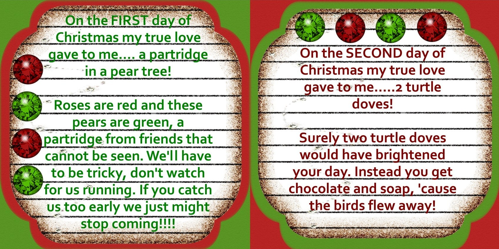 Uncategorized Riddles On Christmas the 12 days of christmas there