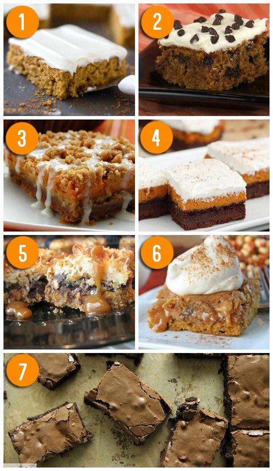 Easy to make pumpkin dessert bars.   The Dating Divas