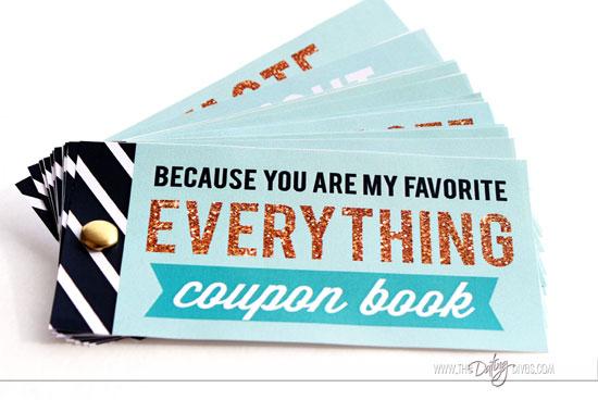 Five Senses Gift Basket Coupon Book