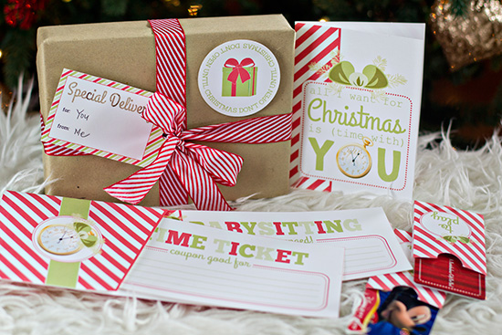Printable Christmas Gift Idea- Give the Gift of TIME! Love this!