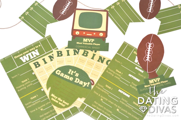 The PERFECT Super Bowl Date Free Printable Pack