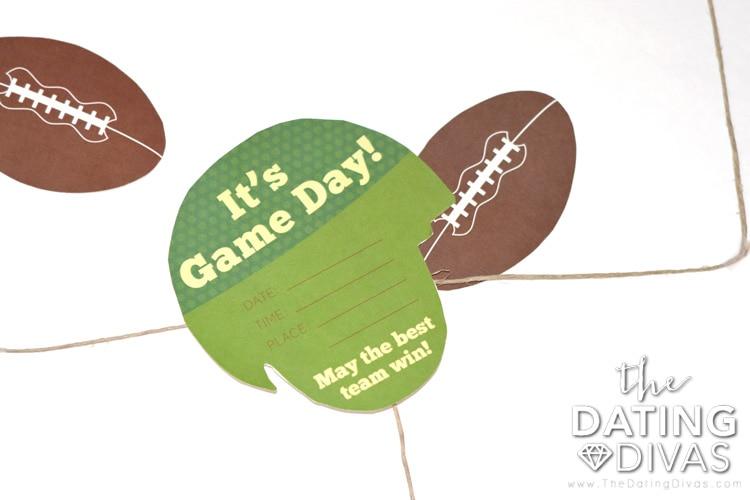 The PERFECT Super Bowl Date Invite - Free Printable