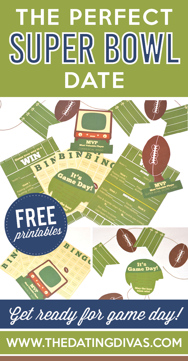 The PERFECT Super Bowl Date idea with Free Printables