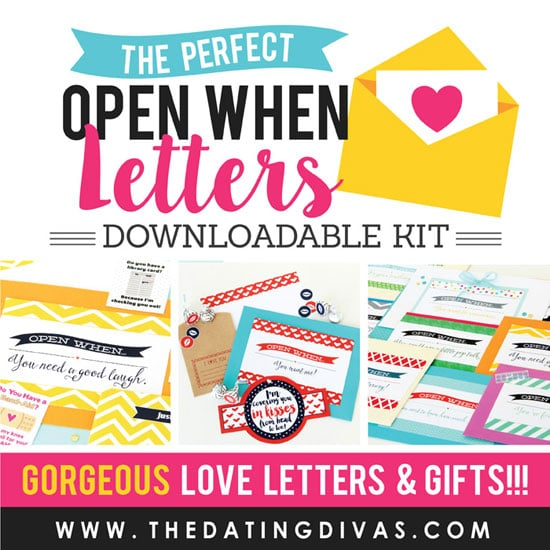 the perfect open when love letters kit details
