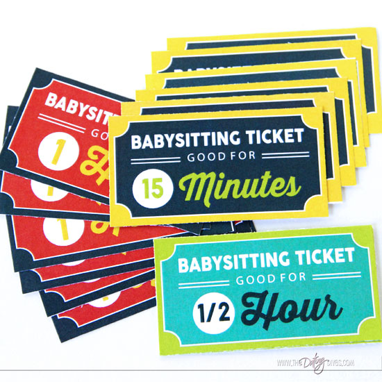 Babysitting Co-op Tickets