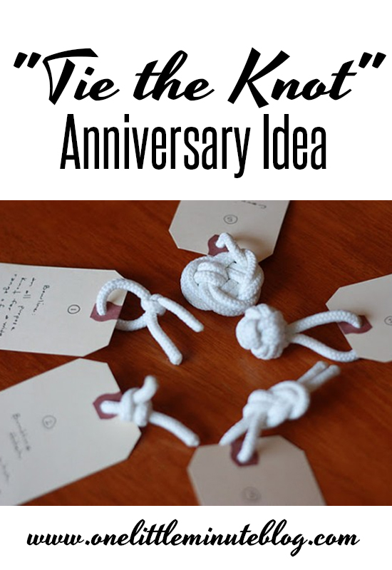 tie the knot anniversary date idea