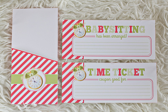Printable Time Tickets- Give the Gift of TIME!