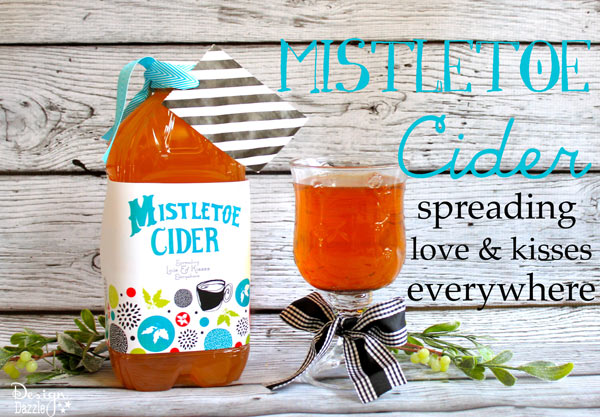 Toni - Making Homemade Food Gifts -mistletoe cider neighbor gifts