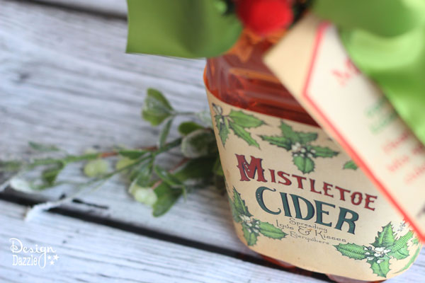 Toni - Making Homemade Food Gifts -vintage mistletoe cider label
