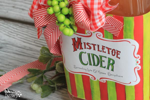 Toni - Making Homemade Food Gifts -whimsical mistletoe cider label