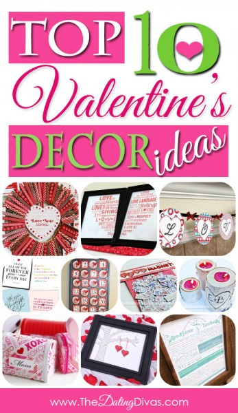 collage of valentine's day decoration ideas