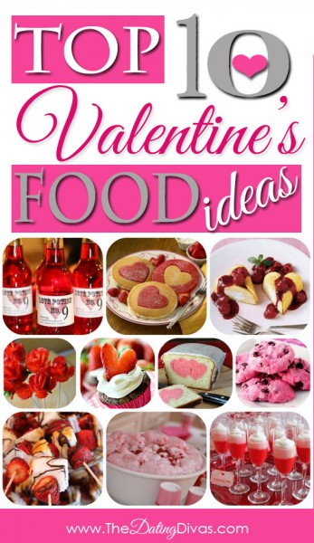 Top 10 valentines day food ideas collage