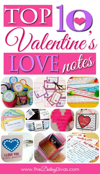 banner collage of love notes for him