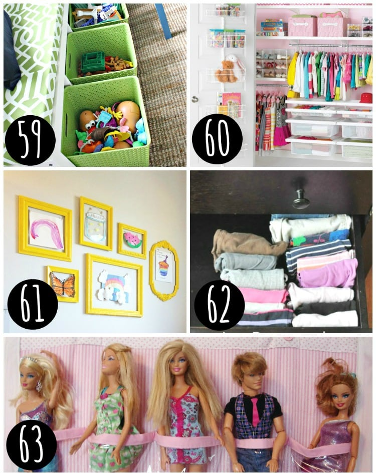 Organize your kids toys.