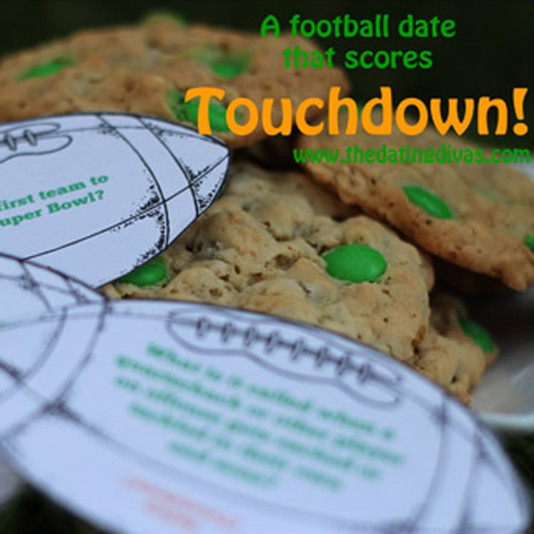 Touchdown Football themed date idea