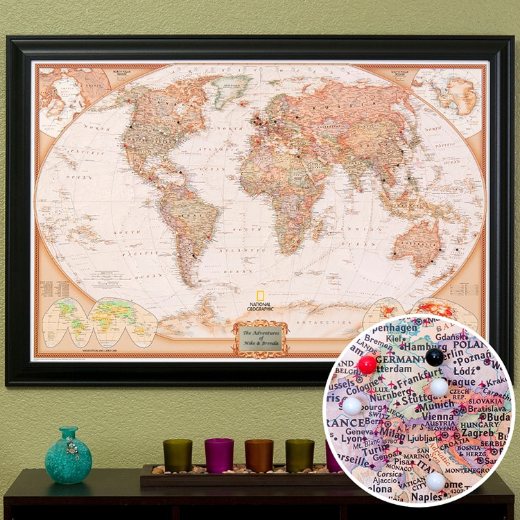 Push Pin Travel Map Giveaway – World Travel Maps With Pins