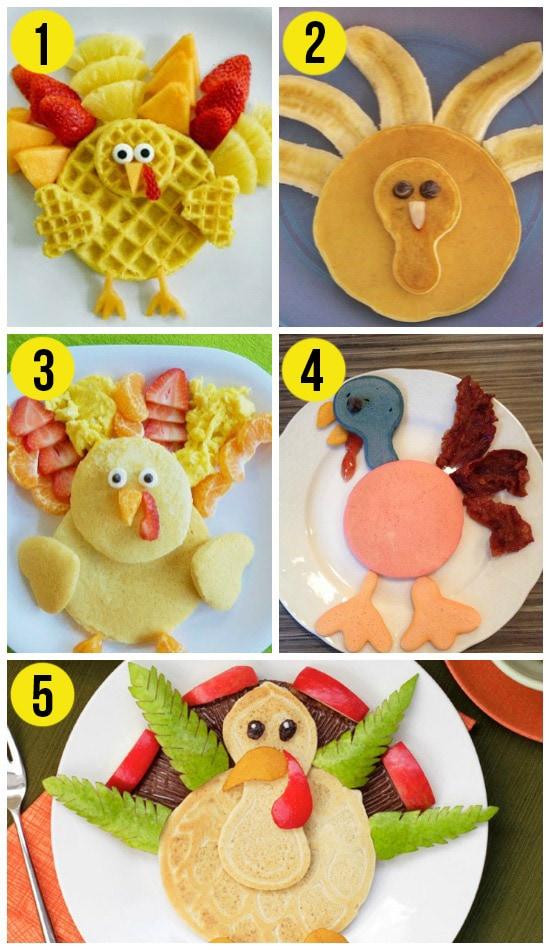 Turkey Pancakes for Thanksgiving