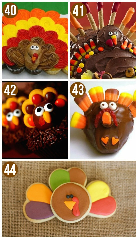 Cute Turkey Treats for Thanksgiving