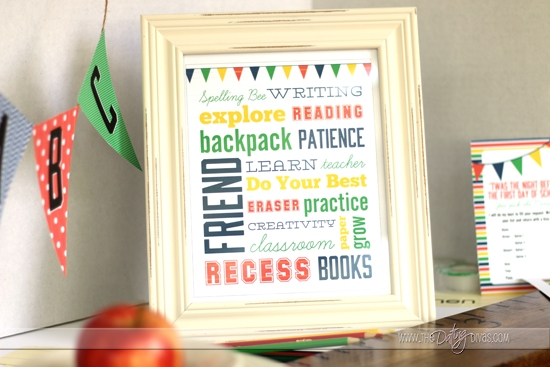 Back To School Printable Poster