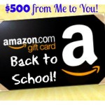 Twitter giveaway of $500 to Amazon