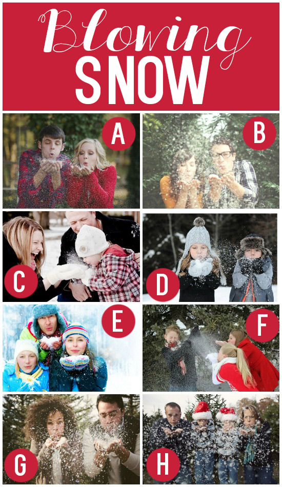 10. Blowing Snow- Snap a picture of the family blowing snow into the ...