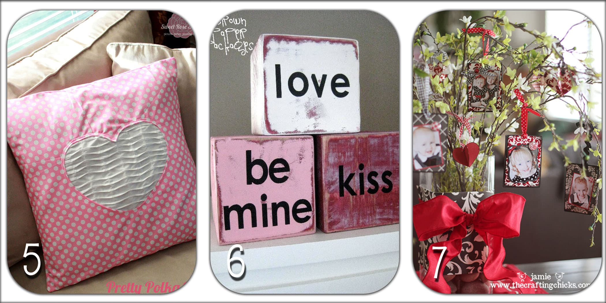 Valentine's Home Decor Craft Ideas {round-up}