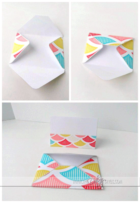 Folding Valentine's Love Note Envelopes