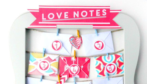 Valentine's Advent Love Notes Banner