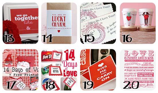 Valentine's Day Printables Free