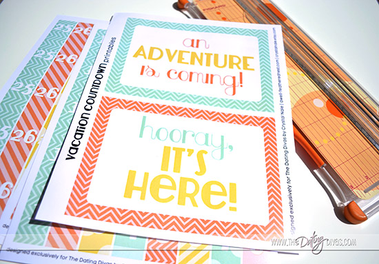 An adventure is coming! Free Printable Vacation Countdown Chain!