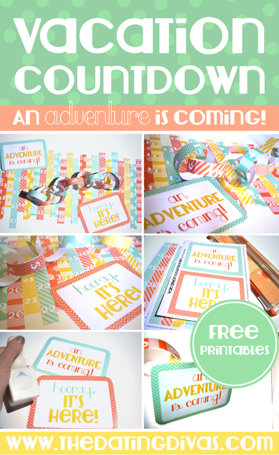 DIY Vacation Countdown Chain with Free Printables