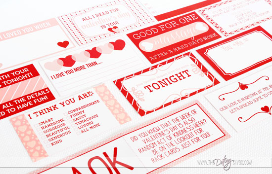 Valentine Countdown Activity Cards