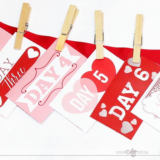 Valentine Countdown Envelopes