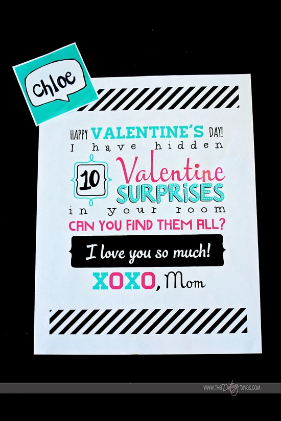 Valentine Search and Find - a fun and easy Valentine surprise for the kids.