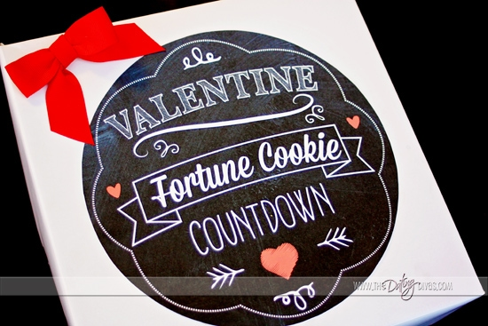 Valentine Fortune Cookie Countdown Printable