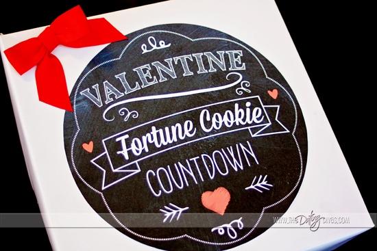 Valentine Fortune Cookie Countdown Printable